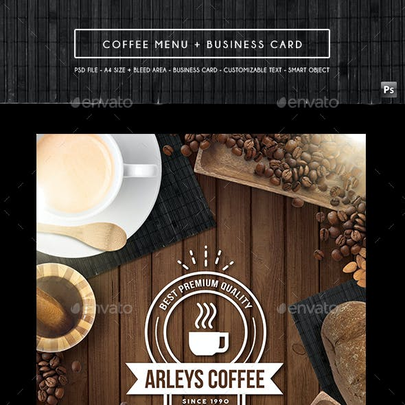 Coffee Menu + Business Card