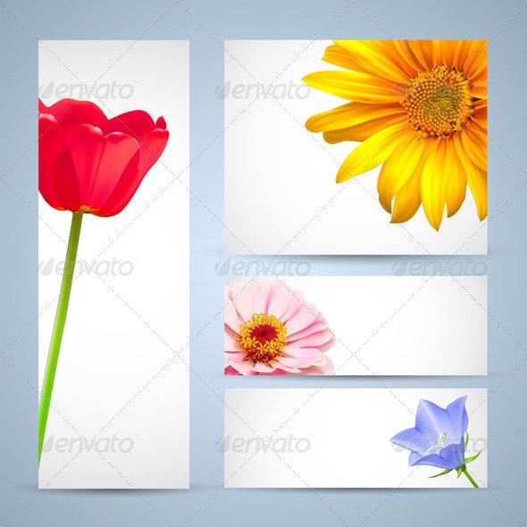 Flower Template Designs - Flowers & Plants Nature