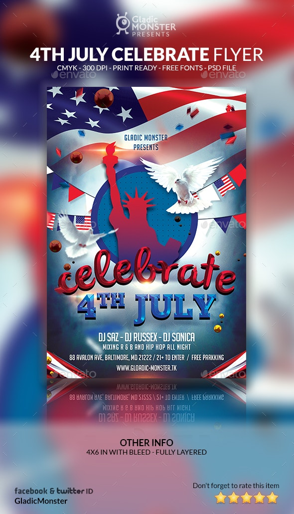 4th of July Celebrate Event Flyer - Holidays Events