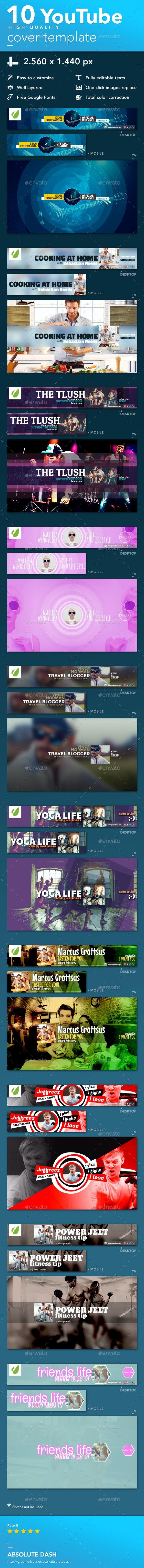 Youtube Cover Template - YouTube Social Media