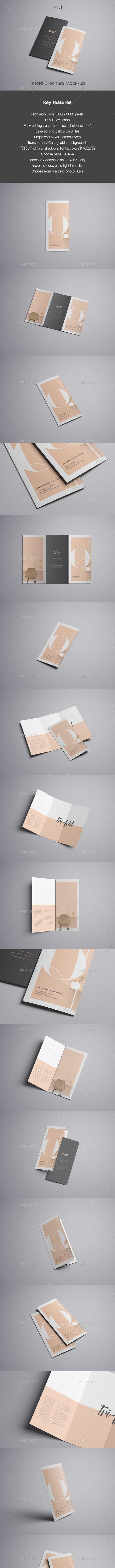 Trifold Brochure Mockup - Brochures Print