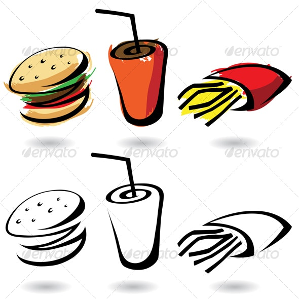 fast food - Food Objects