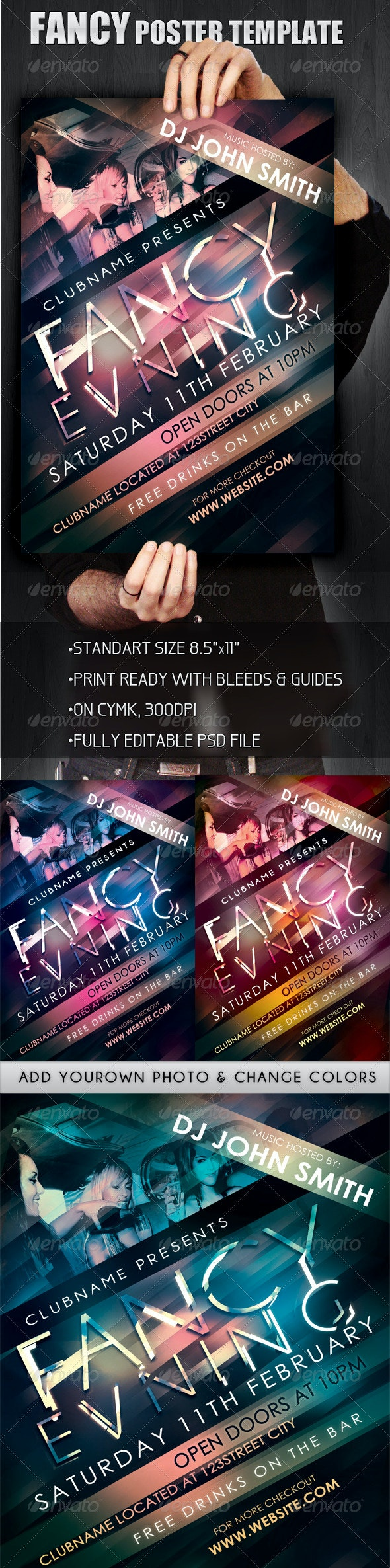 """""""Fancy Evening"""" Poster \ Flyer Template - Clubs & Parties Events"""