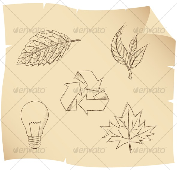 sketch leaves - Flowers & Plants Nature