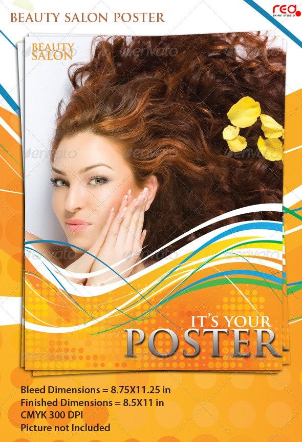 Beauty Salon Poster/Flyer Template - Corporate Flyers