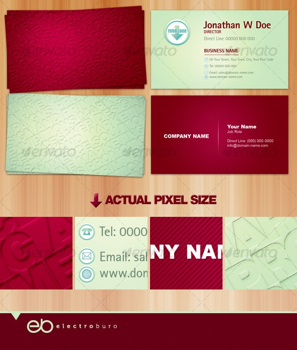 Embossed Effect Business Card - Creative Business Cards