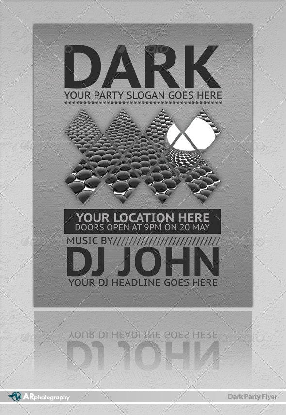 Dark Party Flyer - Clubs & Parties Events