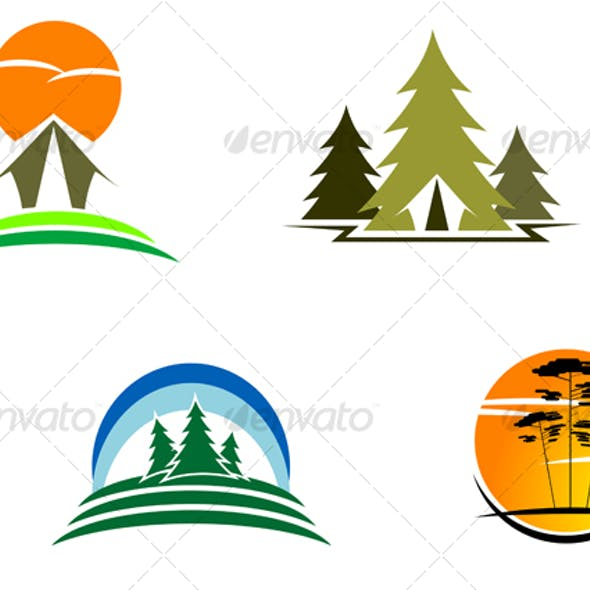 Travel and tourism symbols