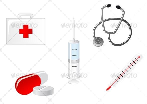 Medical icons - Health/Medicine Conceptual