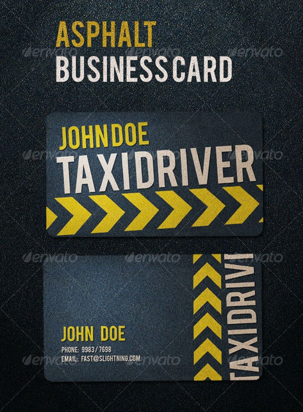 Asphalt Business Card - Industry Specific Business Cards