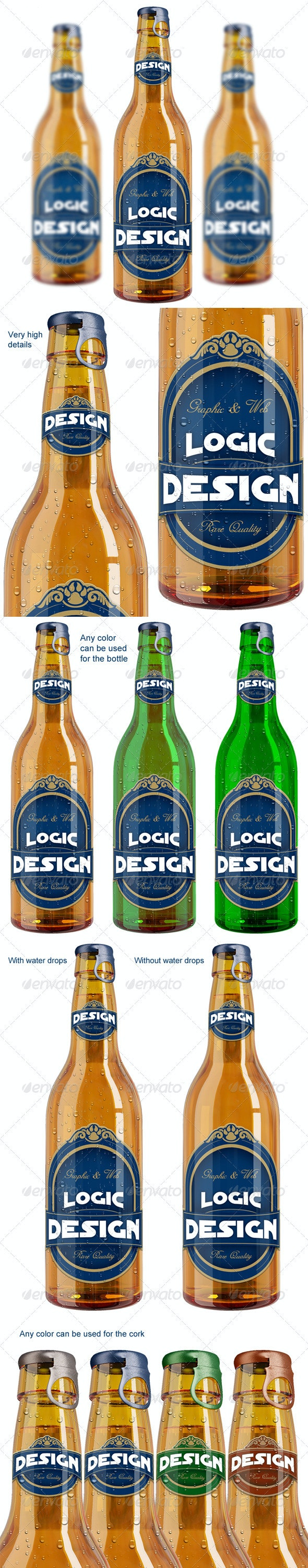 Bottle Beer Mock Up - Food and Drink Packaging