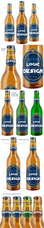 Bottle Beer Mock Up - Food and Drink Packaging