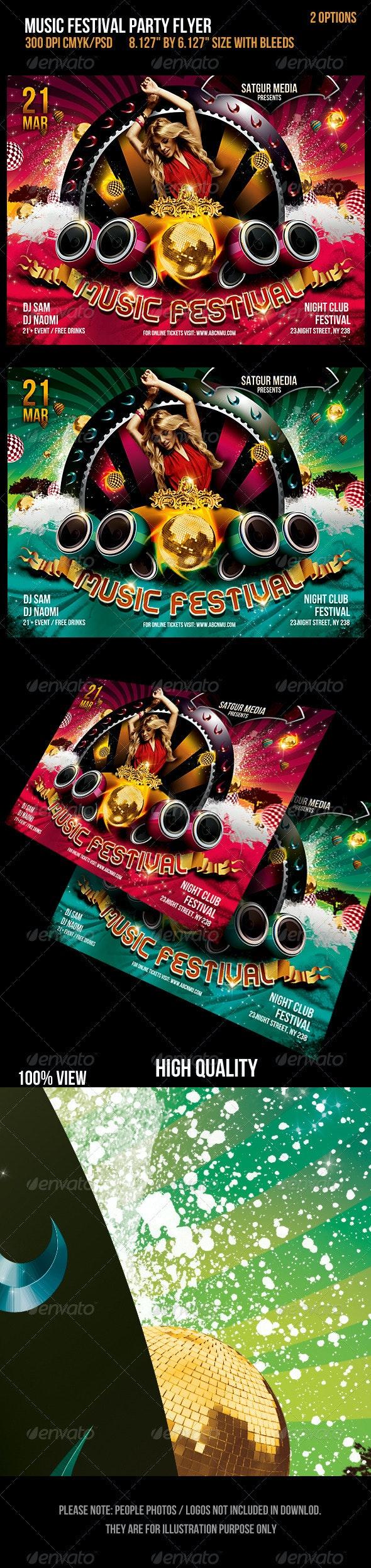 Music Festival Dance Party Flyer - Flyers Print Templates
