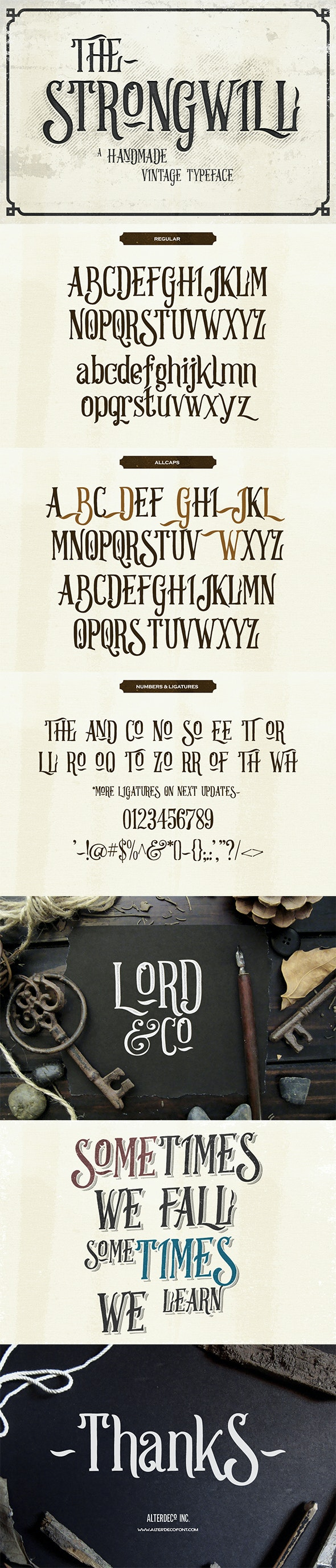 Strongwill Typeface