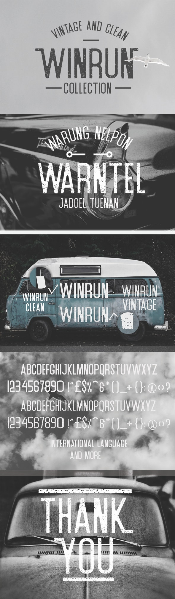 Winrun Typeface - Script Fonts