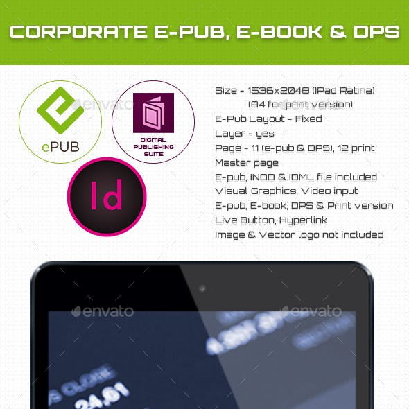 Corporate E-pub, E-book & DPS