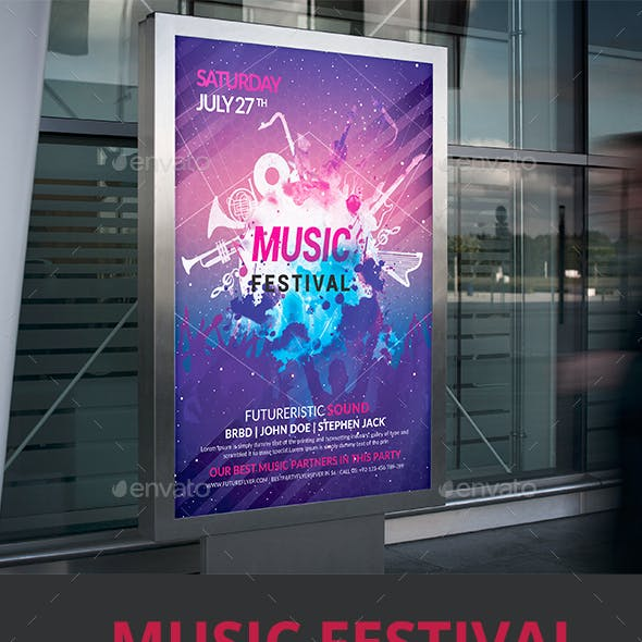 Music Festival Event Poster/Flyer