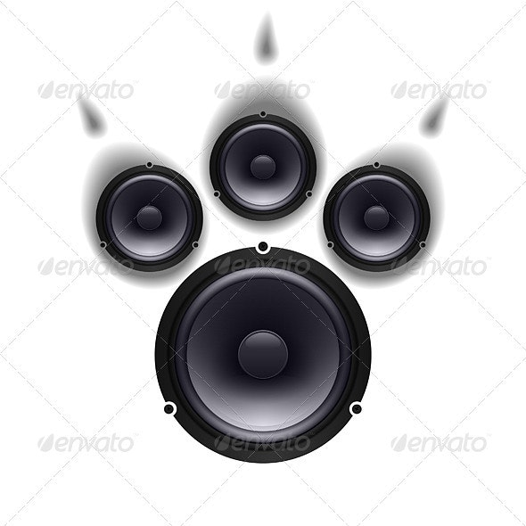 Speakers Paw - Technology Conceptual