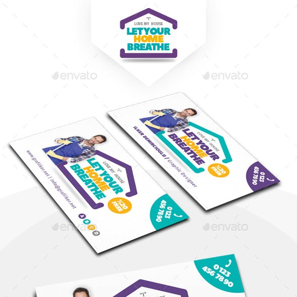 House Cleaning Business Card Templates