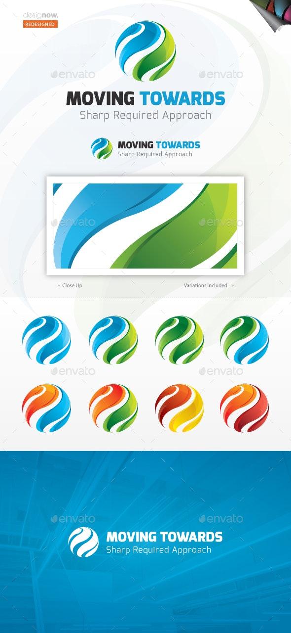Moving Toward Logo - Abstract Logo Templates
