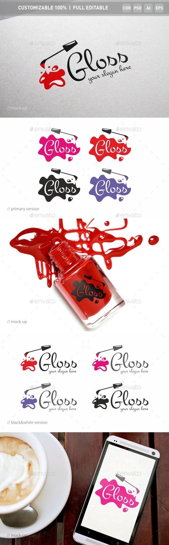 Gloss Nail Logo Template - Objects Logo Templates