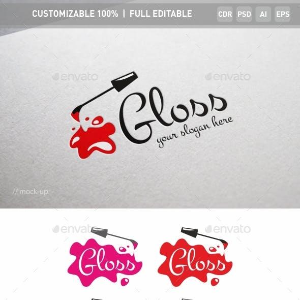 Gloss Nail Logo Template
