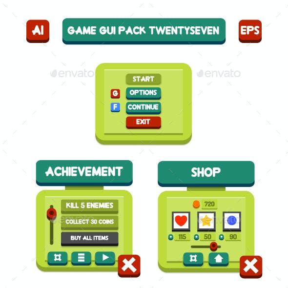 Game GUI Pack TwentySeven