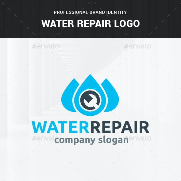 Water Repair / Plumber Logo