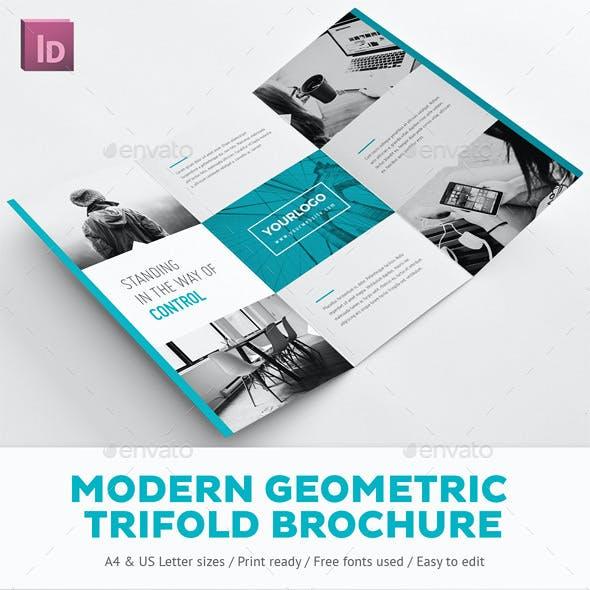 Modern Geometric Trifold Brochure
