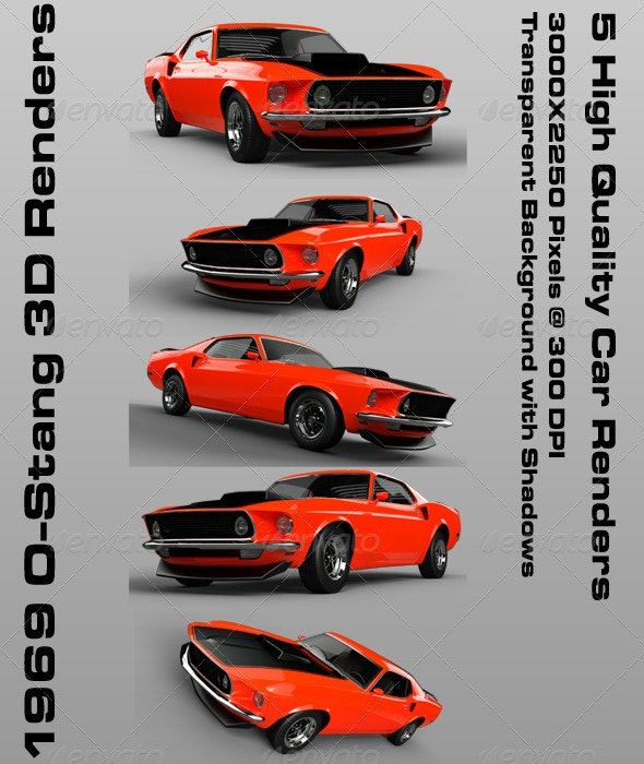 1969 O-Stang 3D Renders - Miscellaneous 3D Renders