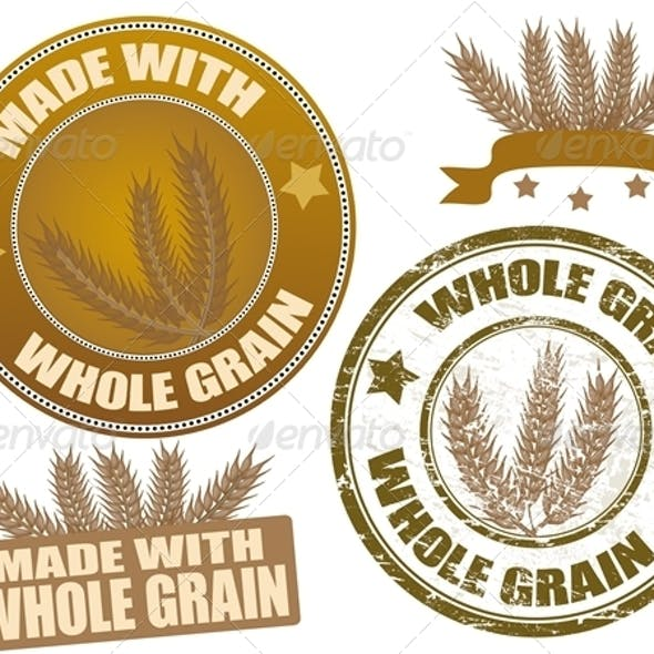 Set of whole grain stamps