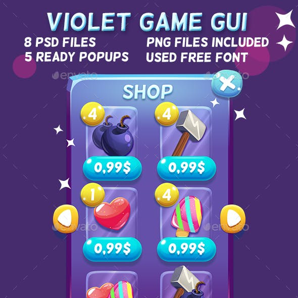 Violet Cartoon GUI