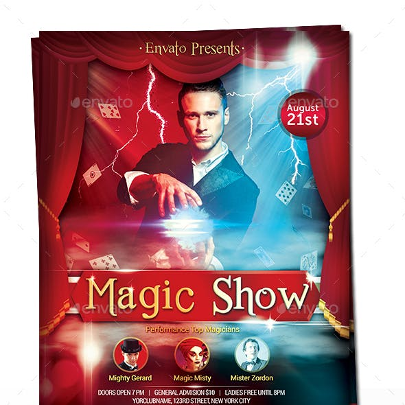 Magic Show - Magician Flyer