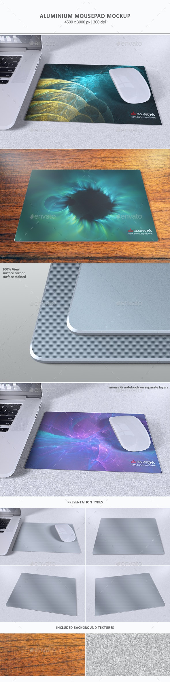 Aluminium Mousepad Mock-up - Miscellaneous Print