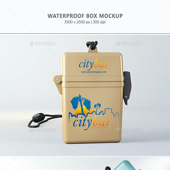Waterproof Box Mock-up