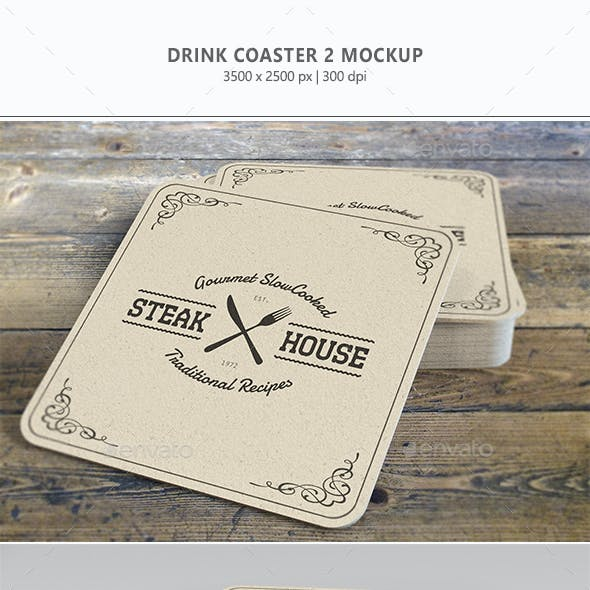 Drink Coaster Mock-Up Vol. 2