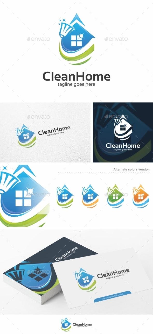 Clean Home - Logo Template - Buildings Logo Templates