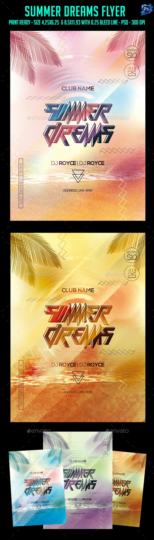 Summer Dreams Party Flyer - Clubs & Parties Events