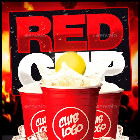 Red Cup Party Flyer