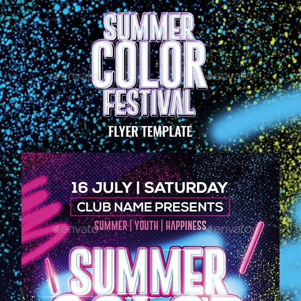 Summer Color Fest Flyer Template