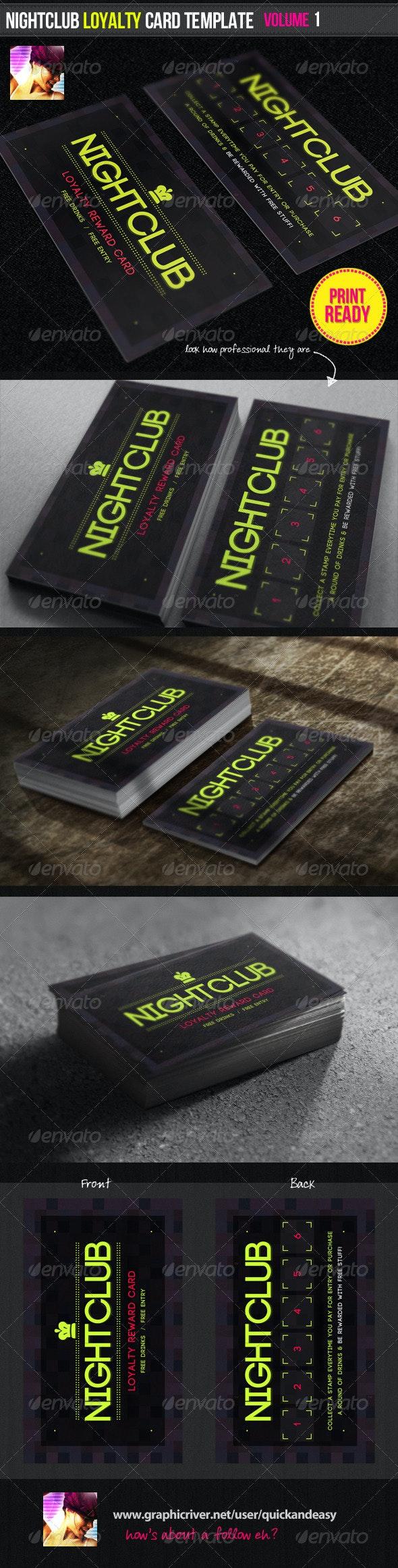 Nightclub Loyalty Card Template - Loyalty Cards Cards & Invites