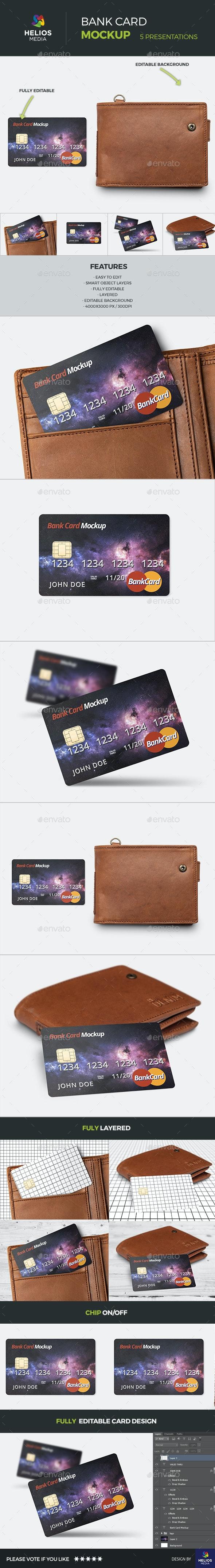 Credit Card Bank Mockup - Miscellaneous Print