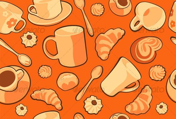 Breakfast - Backgrounds Decorative