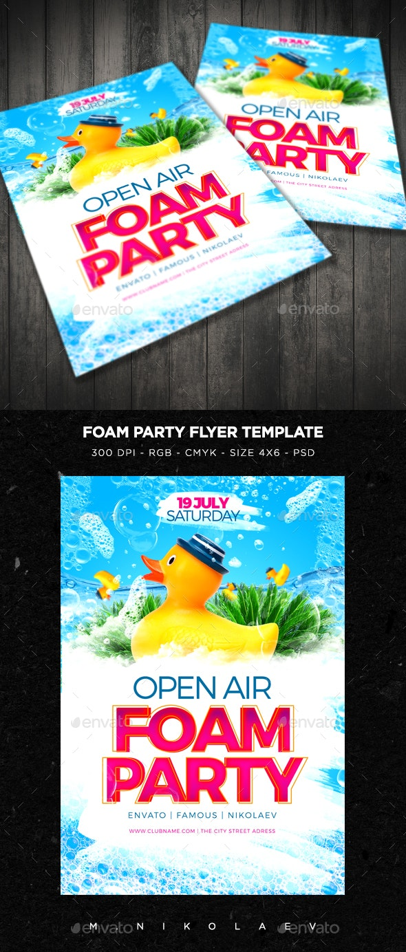 Foam Party Flyer V4 - Clubs & Parties Events