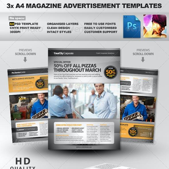 Pro Services A4 Magazine Advertisement Templates 2