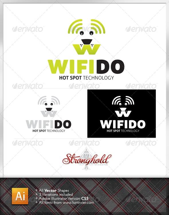Wifi Fido Dog Logo Template - Animals Logo Templates