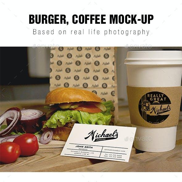 Burger Coffee Mockup