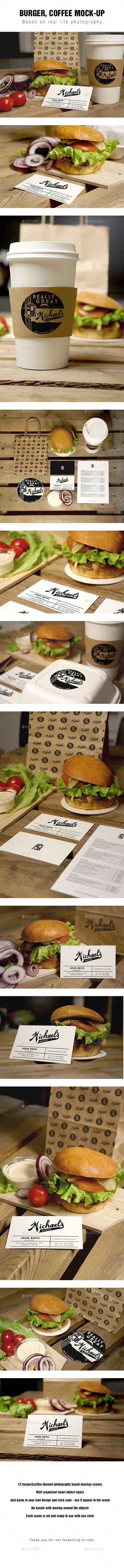 Burger Coffee Mockup - Food and Drink Packaging
