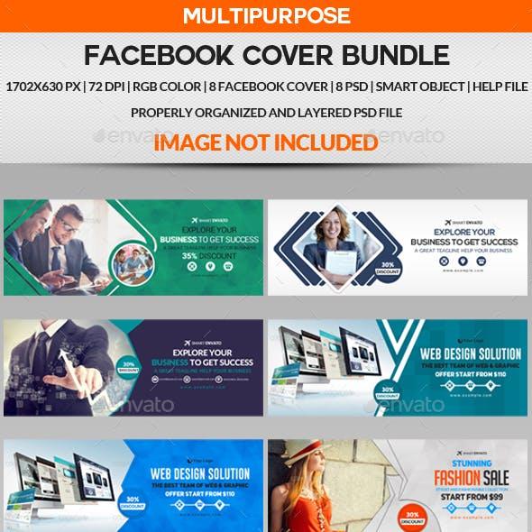 Facebook Cover Bundle - 8 Design