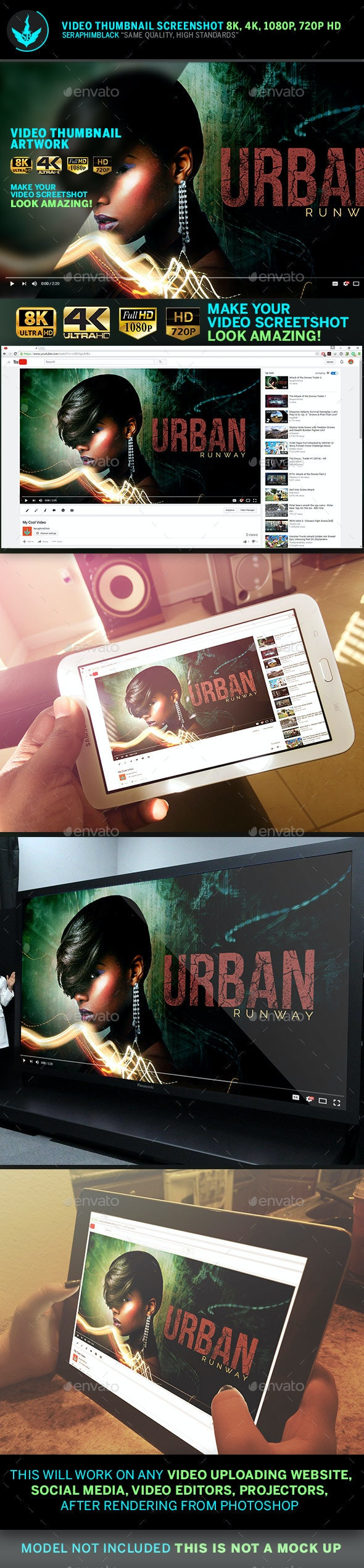 Urban Youtube Video Thumbnail Preview Template - YouTube Social Media